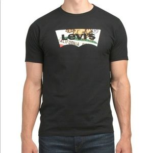 LEVIS California Bear Logo Black T-Shirt - Size 3X